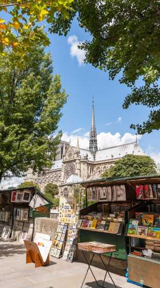 Vue de Notre Dame depuis les quais de la Seine
